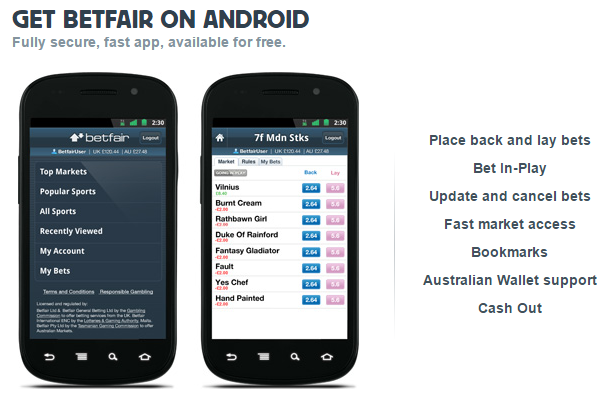 betfair on android