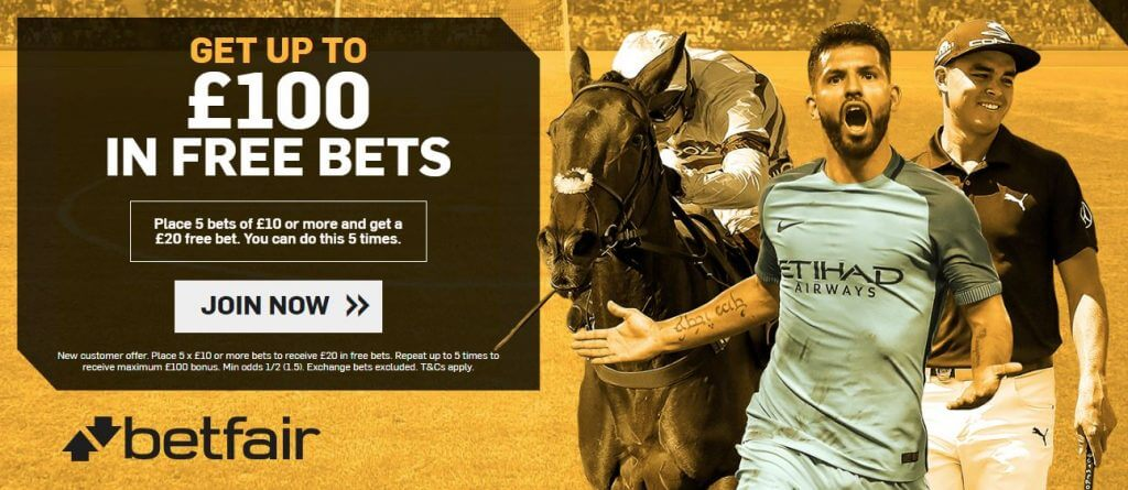 Betfair sports welcome offer