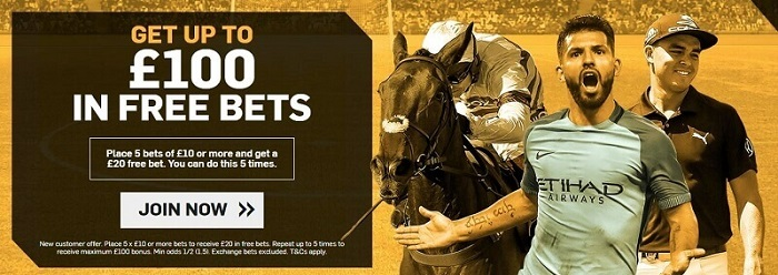 welcome promo £100 free bet offer Betfair