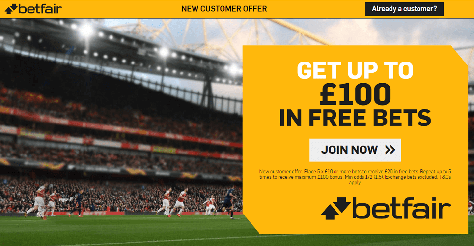 Betfair sign up offer